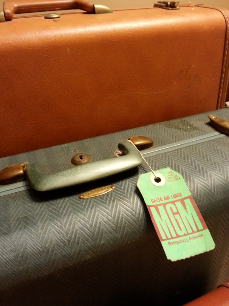 Can you imagine a time traveling when your luggage made a statement!