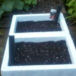 Upcycled Cooler into Self Watering Planter